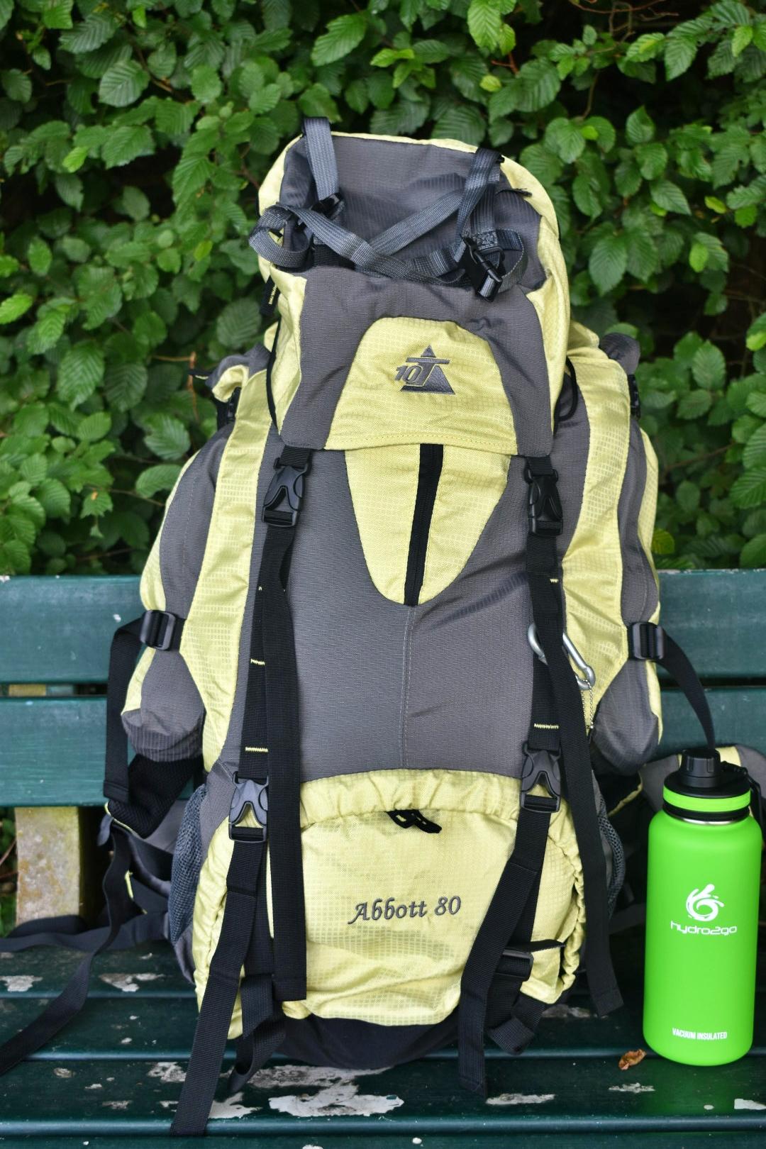 Der 10T Trekkingrucksack Abbott 80 ist ein guter Rucksack für kleines Geld
